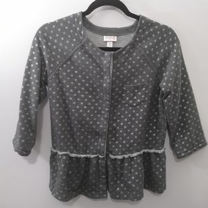Annie Target Gray/Silver Knit Snap Front Cardigan